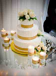 Wedding cake - reception in Banquet Room